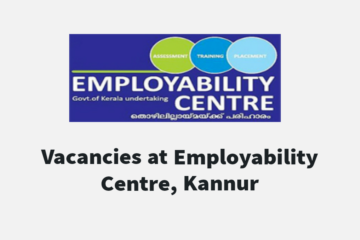 JOB DRIVE at EMPLOYABILITY CENTRE KANNUR on 28 and 29 September